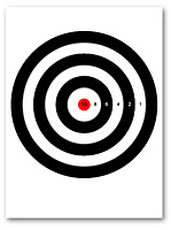 picture about Printable Bullseye Target referred to as Printable Paper Plans - Hidden Provide Outlet