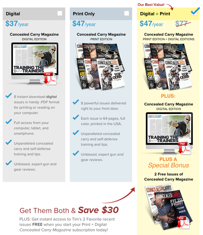 Concealed Carry Magazine Subscription Rates